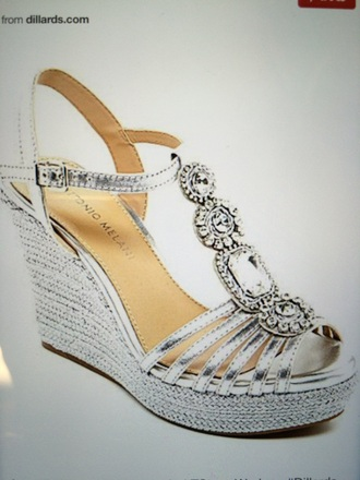 shoes sparkle prom wedge jewels dillard's