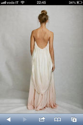 dress,wedding dress,white dress,hippie,ombre dress,maxi dress,cream dress,pink dress,peach dress,backless,prom dress,clothes,dip-dyed,open back dresses,toga,long dress,flowy dress,back,open back,long open back dress,open back dress silver,light ombre,nude,pretty,elegant dress,summer dress,fashion,beach dress,backless maxi feather dress,backless maxi dress