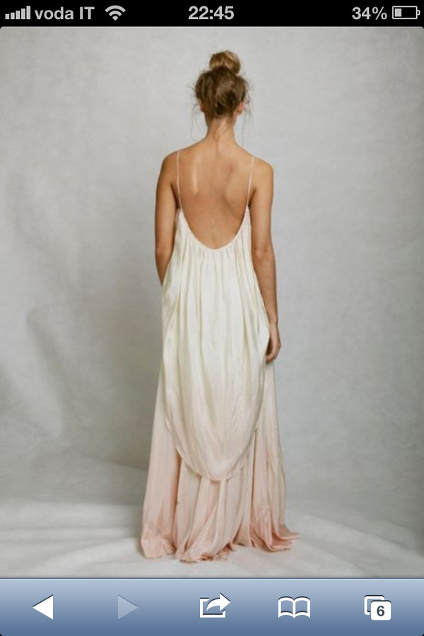 Open Back Maxi Dresses for Beach Wedding