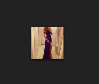 dress long dress purple dress