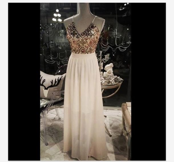 dress maxi dress white dress sparkly dress