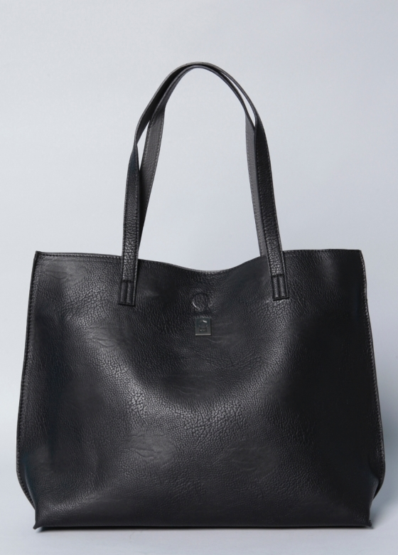 Pebble vegan leather tote & crossbody bag in new women at brooklyn industries