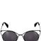 Cutout wire cat-eye frame sunglasses
