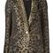 Michael michael kors leopard print blazer, women's, size: 6, brown, polyester/spandex/elastane
