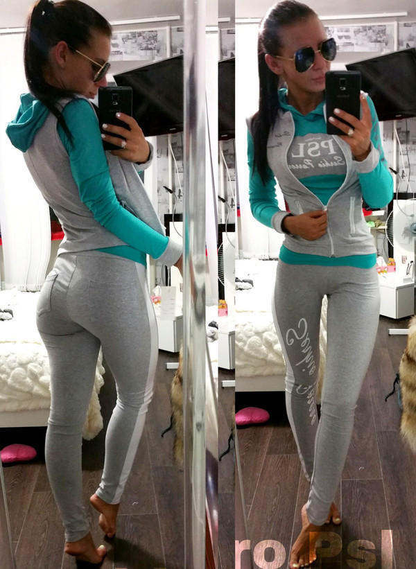 Women's 3 Piece Sleeveless Hoodie Sweatshirt And Skinny Sweatpants Set