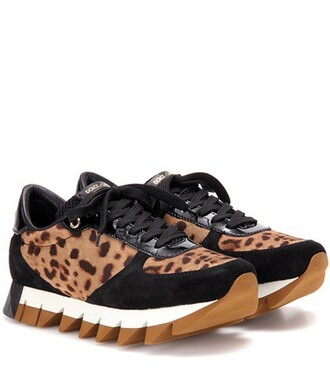 sneakers leather suede brown shoes