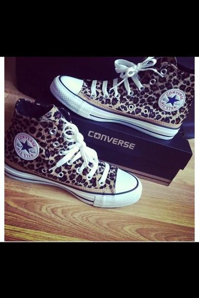shoes high top converse converse leopard print