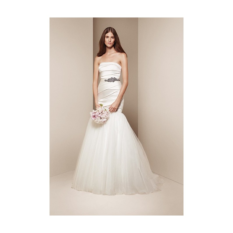 White by vera wang style vw351169 stunning cheap for Affordable vera wang wedding dresses