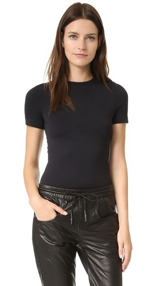 shirt short black top