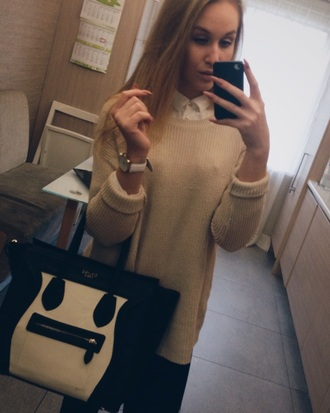 bag celine nude sweater