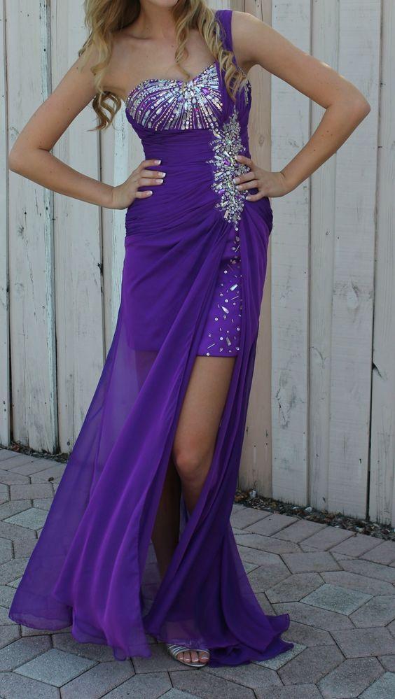 Kiss Kiss Prom Evening Gown Size 2 Purple | eBay