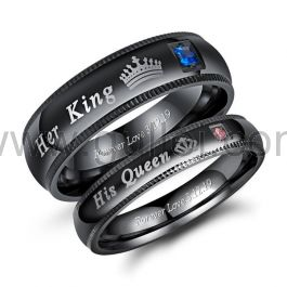 King and Queen Promise Rings for Couple
