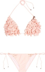 swimwear,rose,blush,light pink,baby pink,miu miu,bikini,beach