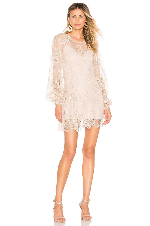 Chrissy Teigen x REVOLVE Phulay Sunset Dress in cream