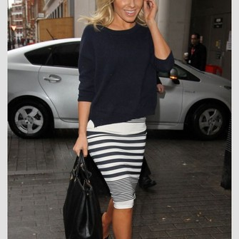 skirt middle skirt skirt black white stripes the middle