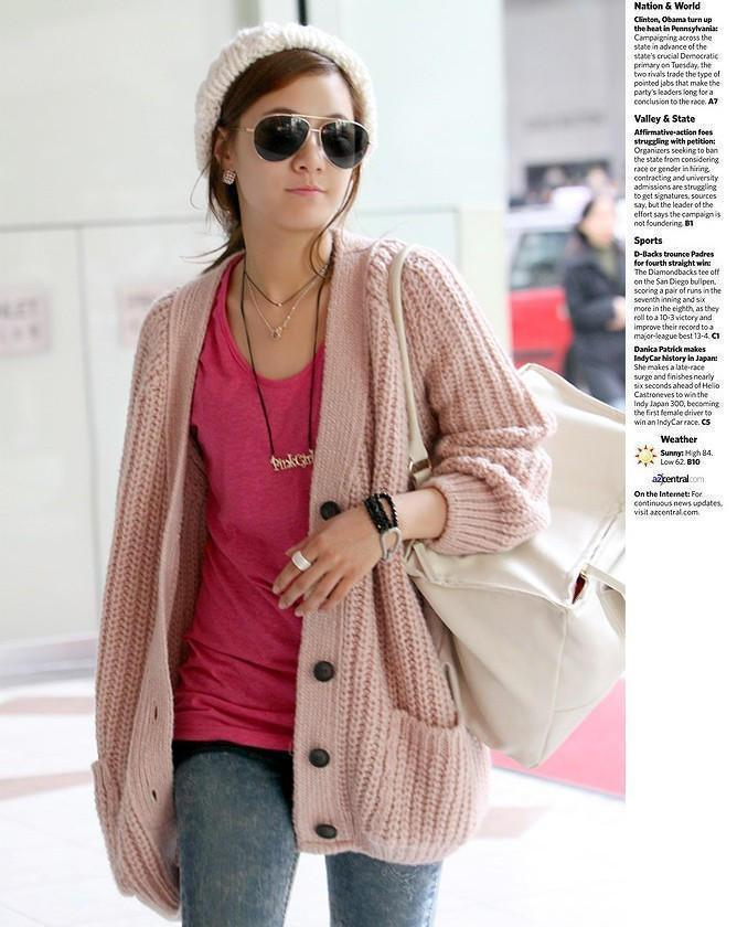 Free Shipping Casual Loose Long Sleeves Sweaters Cardigans Thickening Sweaters Fashion Women's Sweaters Cardigans Pink-inCardigans from Apparel & Accessories on Aliexpress.com | Alibaba Group