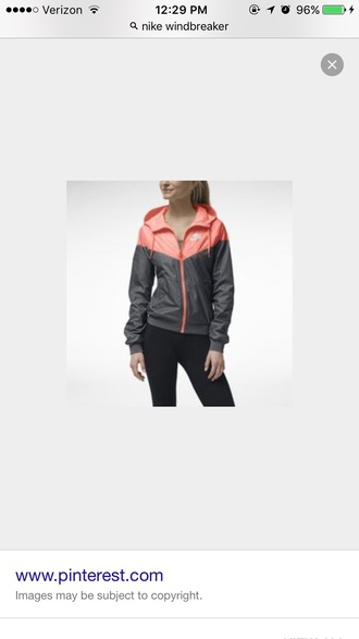jacket nike windbreaker grey salmon
