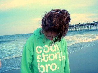 hoodie cool girl style cool quote on it sweater