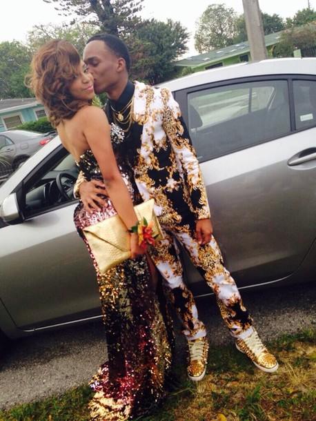 jacket, gold, suit, versace, elegant, formal, dress, prom dress ...
