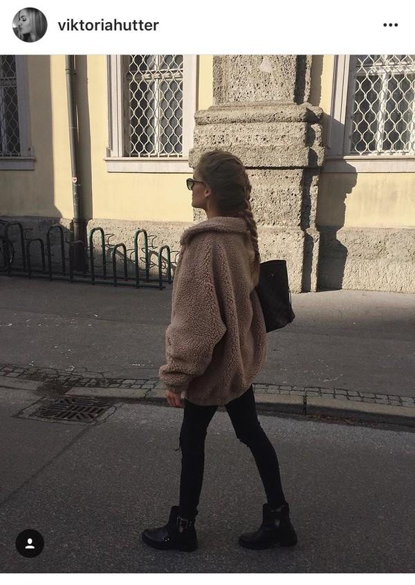 Fleece teddy bear coat