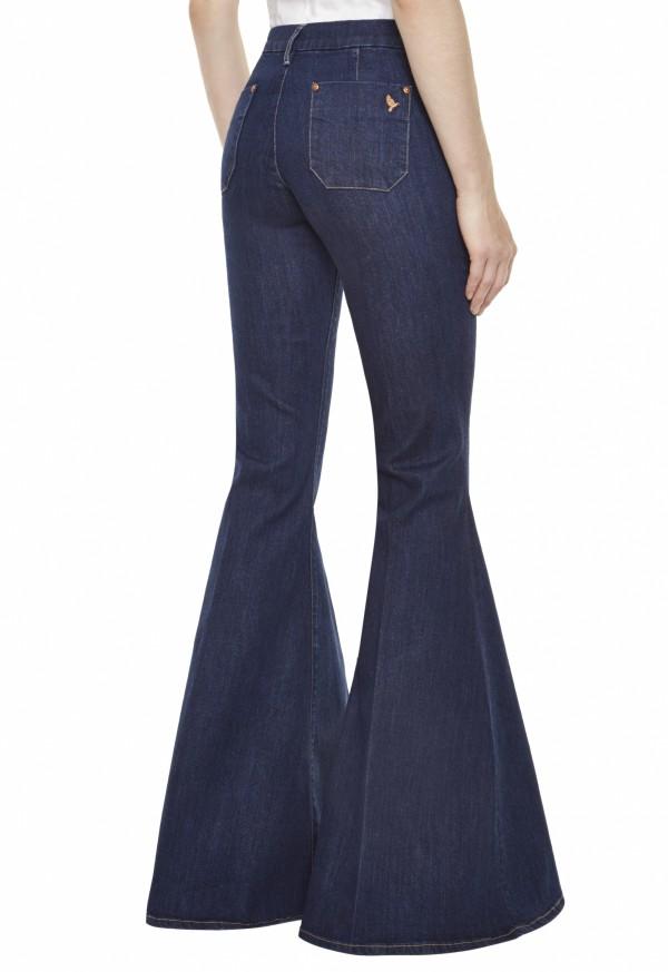 The MARRAKESH SUPER FLARE Jean - HIGH RISE, SUPER-WIDE FLARE - True Blue - MiH Jeans