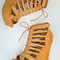 Lace up wedges in camel | entourage clothing & gifts
