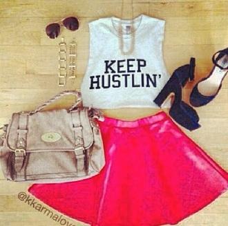 skirt circle skirt hot pink