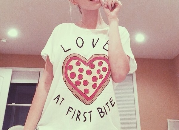 t-shirt pizza t-shirt pizza shirt love at first bite shirt