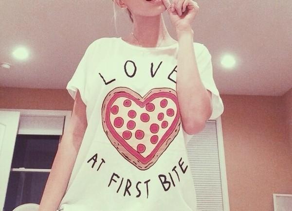 t-shirt pizza t-shirt pizza shirt love at first bite shirt