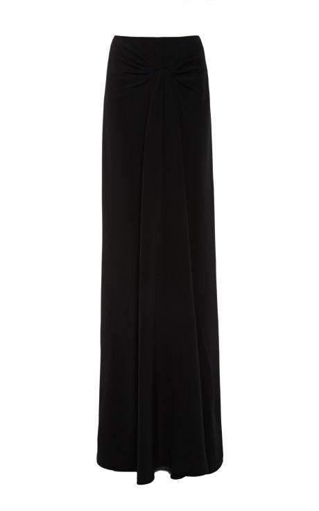 Silk crepe black skirt by cushnie et ochs