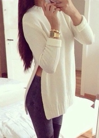 sweater fashion white white sweater knitwear knitted sweater sexy clothes instagram pinterest fine knit jumper