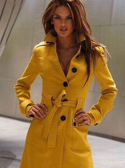 yellow trench coat coat yellow coat yellow jacket winter jacket