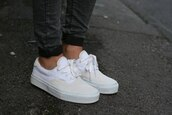 shoes,vans,white,sneakers,pants