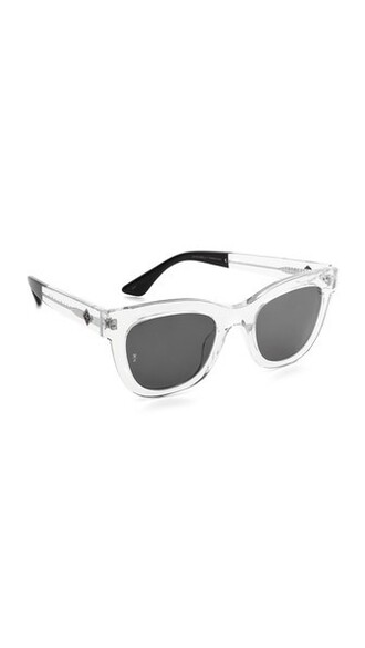 clear sunglasses black grey