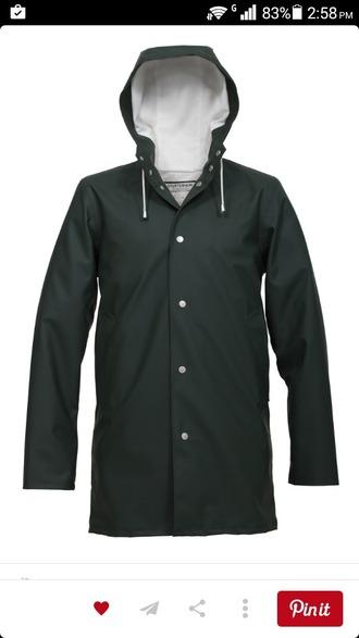 coat raincoat black coat