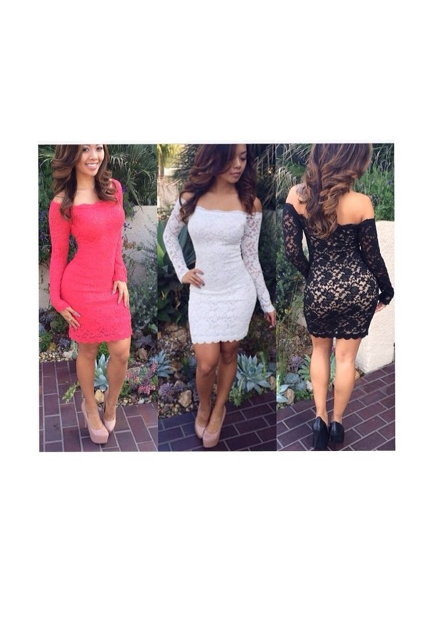 dress lace dress pink dress white dress little black dress