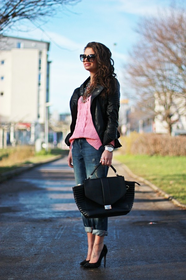 fashionhippieloves jeans shirt jacket sweater shoes bag jewels sunglasses
