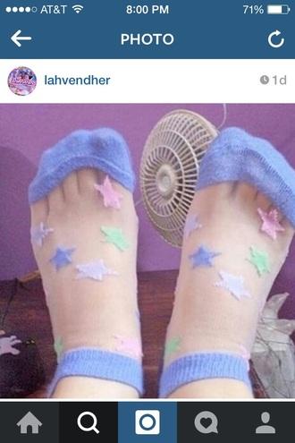 socks pastel blue girly cute transparent pretty