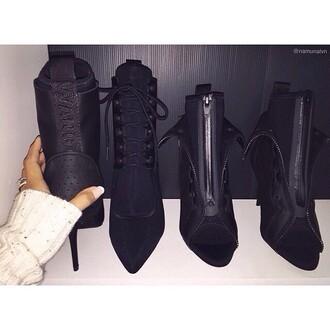 shoes five star alexander wang kim kardashian rhianna shoes black