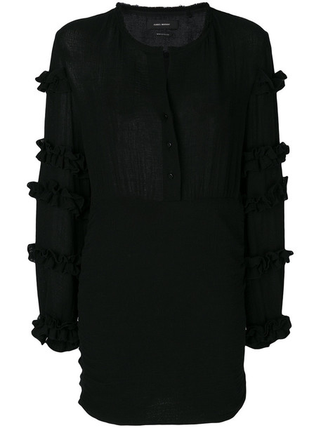 Isabel Marant dress ruffle women cotton black
