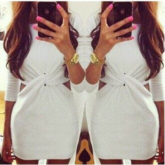 dress ayamare white white dress mini bodycon dress paris most wanted chloe cheryl cole summer brooklyn we go hard bronx prom