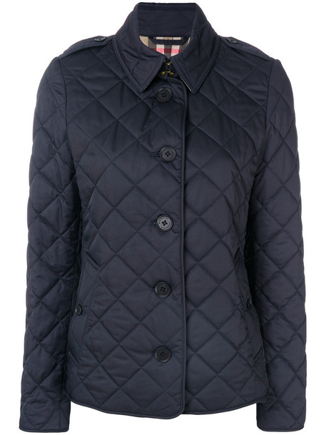 Burberry jacket women quilted cotton blue