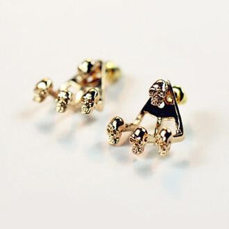 eternal skull earrings jewels