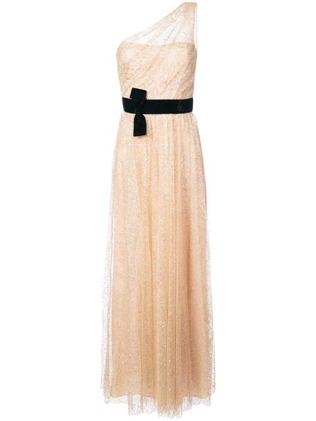 Marchesa Notte dress glitter dress glitter women nude