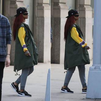 pants rihanna sweatpants sneakers sunglasses shoes