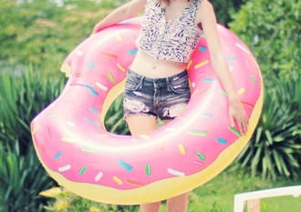 bag donut inflatable donut pool accessory