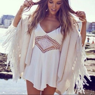 dress white dress lace dress white coat hair boho vibe boho dress boho hipster hipster dress sweater jewels jewelry summer dress summer outfits summer