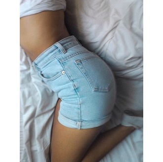 shorts denim shorts light blue shorts