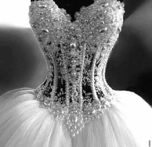 Diamond corset wedding dresses