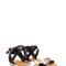 Hint of shine faux leather sandals black - gojane.com